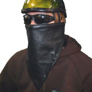 【HEAVY】レザーフリースマスク ブラック【モトブルーズ】|motobluez-store