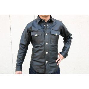 【HEAVY モトブルーズ】バッファローレザーシャツ(バッファロースナップ)|motobluez-store