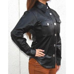 【HEAVY モトブルーズ】レディースバッファローレザーシャツ(バッファロースナップ)|motobluez-store