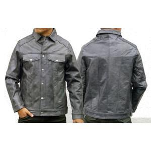 【HEAVY】 カウレザーシャツジャケット(グレー)|motobluez-store