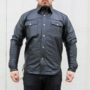 MOTOBLUEZ【HEAVY モトブルーズ】ソフトバッファローレザーシャツ|motobluez-store