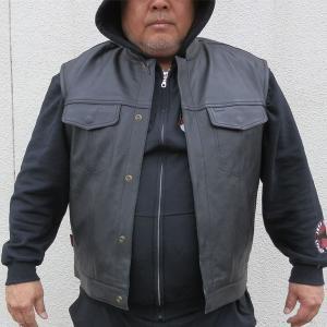 【HEAVY 】 MCベスト《デラックス》 ラージサイズ MOTOBLUEZ/モトブルーズ motobluez-store