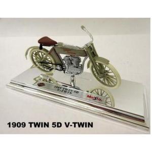 【Maisto】1/18 ハーレーダビッドソン 1909 TWIN 5D V-TWIN|motobluez-store