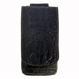 レザー(クロコエンボス)モバイルホルダー スマホケース ウエストポーチ シガレットケース|motobluez-store