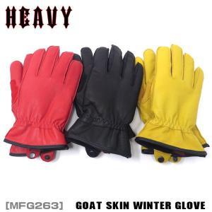 山羊革ウィンターグローブ ボア付き 防水 防寒 冬用  HEAVY GOAT SKIN WINTER GLOVE motobluez-store