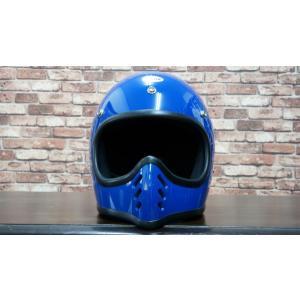 ヘルメット バイク オーシャンビートル BEETLE MTX MOTO STYLE HELMET ブルー OCEANBEETLE|motobluez-store