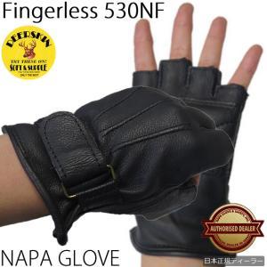 特価【NAPA】【HEAVY】山羊革フィンガーレスグローブ【530NF】|motobluez-store