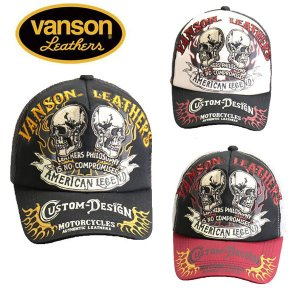 VANSON ツイルメッシュキャップ ダブルスカル バンソン nvcp-901|motobluez-store
