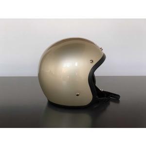 ヘルメット バイク BEETLE LAC / シャンパンゴールド ジェットヘルメット motobluez-store