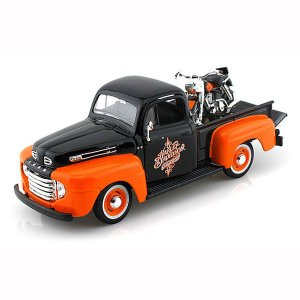 【Maisto】 ダイキャストモデル 1/24 1948 FORD F-1 PICKUP × H-D 1958 FLH DUO GLIDE|motobluez-store