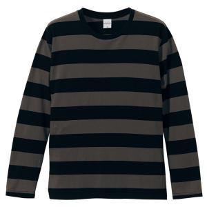 【大人気!!】ボーダーロングTシャツ(チャコール) motobluez-store