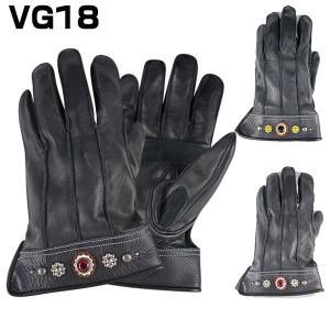 【Vin&Age】3シーズン用 牛革ショートガントレット VG18 スタッズ 外縫い アウトシーム|motobluez-store