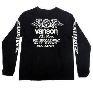 VANSON 長袖 Tシャツ USA WINGS motobluez-store