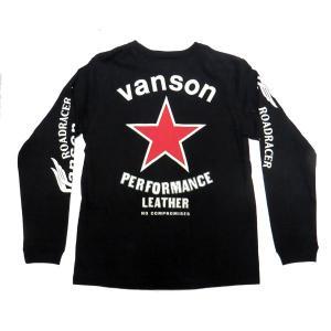VANSON バンソン 長袖 Tシャツ RED STAR  レッドスター motobluez-store