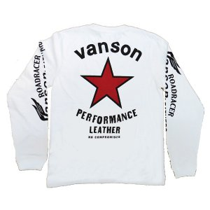 VANSON バンソン 長袖 Tシャツ RED One STAR レッドワンスター|motobluez-store