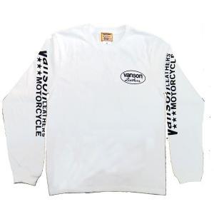 VANSON バンソン 長袖 Tシャツ RED One STAR レッドワンスター|motobluez-store|02
