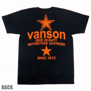 VANSON バンソン 半袖 Tシャツ ORANGE STAR|motobluez-store|02