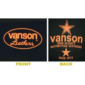 VANSON バンソン 半袖 Tシャツ ORANGE STAR|motobluez-store|04