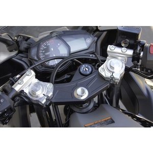 OVER オーヴァー スポーツライディング ハンドルキット&トップブリッジ シルバー YZF-R25|motoism
