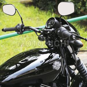 キジマ KIJIMA 204-3385 ロー&ナローバー ハンドル W740×H65×プルバック145 ハーレー Street750 XG750|motokichi