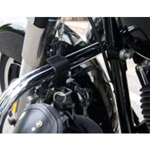 キジマ KIJIMA HD-05143 ヘルメットロック 32φエンジンガード取付用 ブラック ハーレー ダイナ スポーツスター ソフテイル ヘルメットホルダー 【ハーレー】|motokichi
