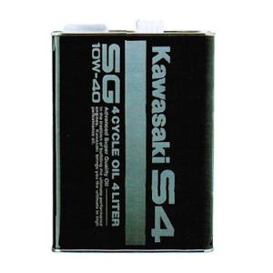 (KAWASAKI純正) J0146-0012 カワサキS4 エンジンオイル SG10W-40 4リットル缶|motokichi