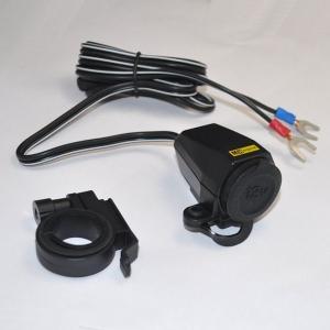 ニューイング NS-002 バイク用 防水シガーソケット シングルタイプ ナビ スマホ レーダー探知機用電源に|motokichi