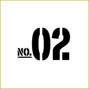 切り文字ステッカー  00〜49 色&数字変更OK    TYPE - NO.02  S/5cm  カッティングシート・シール・デカール|motologo