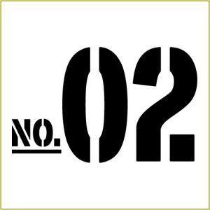 切り文字ステッカー  00〜49 色&数字変更OK    TYPE - NO.02  M/10cm  カッティングシート・シール・デカール|motologo