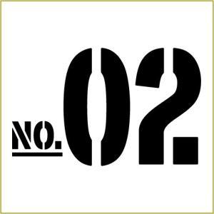 色& 数字変更OK ★ 切り文字ステッカー  50〜99 TYPE - NO.02  L/15cm  カッティングシート・シール・デカール|motologo