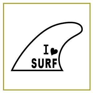 切り文字ステッカー   色&英数字・変更OK   SURF - FIN C    カッティングシート・シール・デカール|motologo