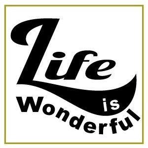 切り文字ステッカー   色&英数字・変更OK    LIFE is - A    カッティングシート・シール・デカール|motologo