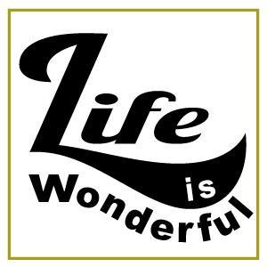 切り文字ステッカー  ロゴマーク LIFE is-M  色&英字変更OK  約100mmx100mm セミオーダー・ カッティングシート・シール・デカール|motologo