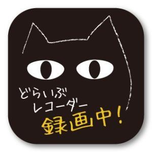 ドラレコステッカー しゅ〜る・にゃんこ 録画中 ドライブレコーダー・シール 猫|motologo