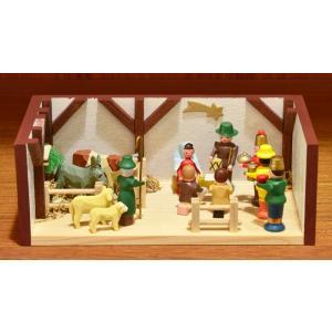 ドイツ木工芸品 ミニチュアの部屋 キリストのご生誕 ご降誕 motomachi-takenaka