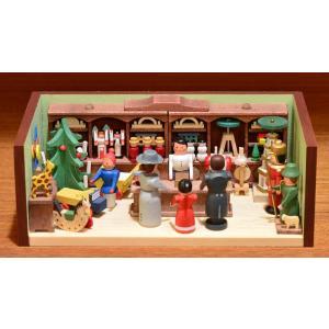 ドイツ木工芸品 ミニチュアの部屋 おもちゃ屋 玩具 motomachi-takenaka