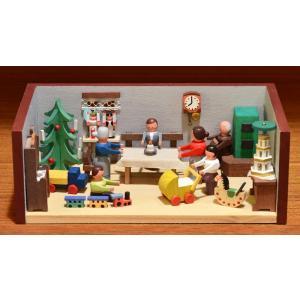ドイツ木工芸品 ミニチュアの部屋 クリスマス パーティ motomachi-takenaka