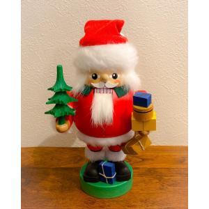 ドイツ木工芸品 ナッツクラッカー くるみ割り人形 サンタクロース ツリー プレゼント|motomachi-takenaka