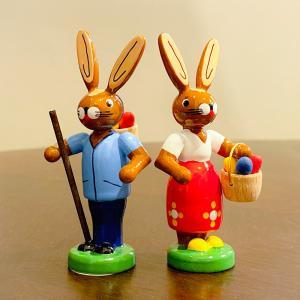 ドイツ木工芸品 イースターのウサギ motomachi-takenaka