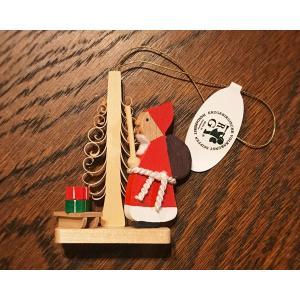 ドイツ木工芸品オーナメント・サンタクロース ソリ プレゼント ツリー|motomachi-takenaka