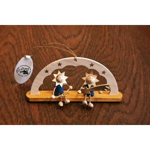 ドイツ木工芸品オーナメント・アーチ 星の子供たち トライアングル 流れ星|motomachi-takenaka