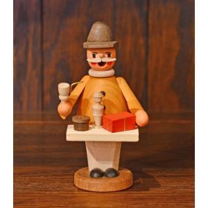 ドイツ木工芸品 小さな煙出し人形 おもちゃ売り 玩具|motomachi-takenaka