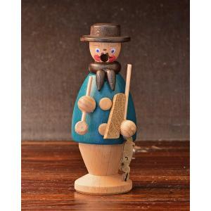ドイツ木工芸品 煙出し人形 小さい猟師 ハンター|motomachi-takenaka