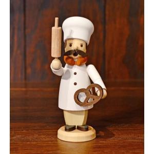 ドイツ木工芸品 小さな煙出し人形 パン職人 パン屋 ベーカリー|motomachi-takenaka