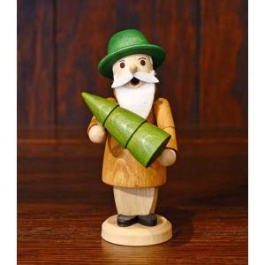 ドイツ木工芸品 小さな煙出し人形 森の精 森の番人 森番 motomachi-takenaka