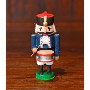 ドイツ木工芸品 ミニナッツクラッカー 小さなくるみ割り人形 軍楽隊 鼓手 motomachi-takenaka