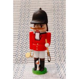 ドイツ木工芸品 ミニナッツクラッカー 小さなくるみ割り人形 騎手|motomachi-takenaka