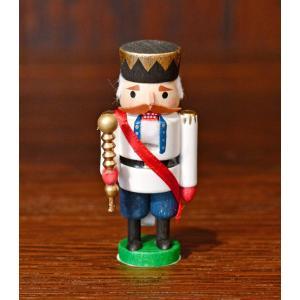 ドイツ木工芸品 ミニナッツクラッカー 小さなくるみ割り人形 王様 キング motomachi-takenaka