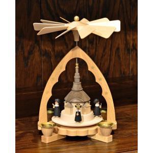 ドイツ木工芸品 ウィンドミル ザイフェン教会と合唱|motomachi-takenaka