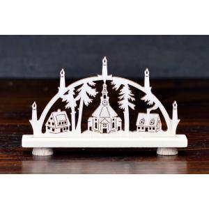 ドイツ木工芸品 ミニアーチ ザイフェン村 教会 motomachi-takenaka